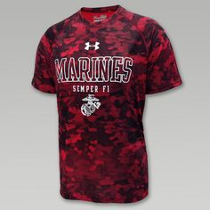 Under Armour Marines Tech Novelty T