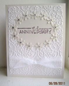 dw 60th wedding anniversary diamond by deb_loves_stamping - Cards and Paper Crafts at Splitcoaststampers Diamond Wedding Anniversary Gifts, Anniversary Crafts, Homemade Anniversary Gifts, Happy Anniversary Cards, 60th Anniversary, Wedding Cards Handmade, Wedding Gifts, Card Wedding, Handmade Cards