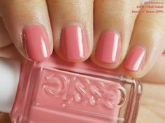 Essie Nail Polish in Stones n' Roses (swatch by fivezero.ca) [pink, coral]