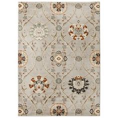 Threshold medallion rug