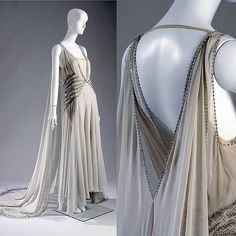 Court presentation gown by Madeleinne Vionnet, ca 1938