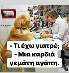 Greek Quotes, Animals And Pets, Messages, Motivation, My Love, Memes, Funny, Dogs, Pictures