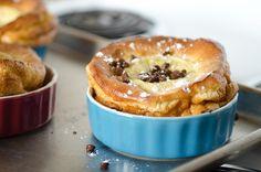 Breakfast chocolate chip bumpy cake (AKA German pancake)