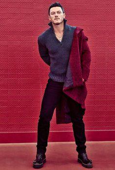 Luke Evans photographed for GQ Portugal (December via Hugo Boss' IG Story. Taylor Kitsch, British Men, Luke Bryan, Gorgeous Men, Gq, Sexy Men, Hot Guys, How To Look Better, Men Sweater