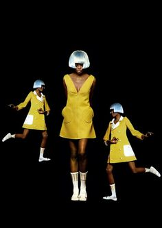 Stay Pulp: Diana Ross for André Courreges by Bert Stern.