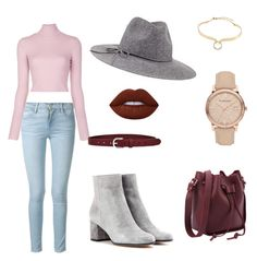 """""""Velvet"""" by vikinka-v on Polyvore featuring Frame Denim, A.L.C., Gianvito Rossi, Chico's, Étoile Isabel Marant, Burberry, Alexis Bittar and Lime Crime"""