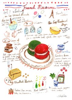 French Marcarons_colorpencil, watercolor, ink_19.8 x 27.3 cm_2014 March.