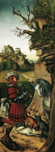 Lucas Cranach the Elder - Saint Eustache. 1515 - 1520