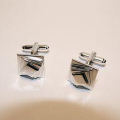 Manchetknopen zilver vierkant. van Atelier925 op DaWanda.com