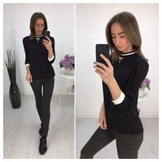 Блуза с манжетами, цвет черый 6462 https://privately.ru/bluzy/bluza-s-manzhetami-cvet-cheryy-6462/  Цена: Р1000.00
