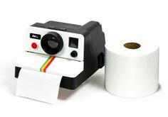Polaroid loo roll dispenser