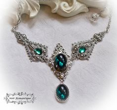 The royal absinth necklace-Gothic victorian by NoirRomantique