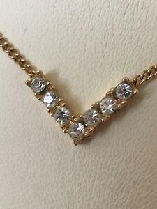 "Christian Dior 15.5"" Pendant Necklace Gold Tone 7 Diamond Cut Crystal Stones  | eBay Vintage Costume Jewelry, Vintage Costumes, Gold Pendant Necklace, Stone Jewelry, Stones And Crystals, Christian Dior, Vintage Antiques, Antique Jewelry, Diamond Cuts"