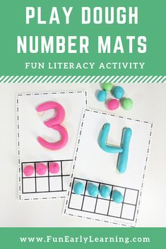Play the math activity of Dough Number Mats. Hands-on print version for learning number recognition, number identification, counting and quantification! Perfect math for preschool, kindergarten, FTI and early childhood. Source by FunEarlyLearning Numeracy Activities, Playdough Activities, Math Activities For Kids, Math For Kids, Preschool Learning, Preschool Activities, Early Learning Activities, Early Childhood Activities, Learning Logo