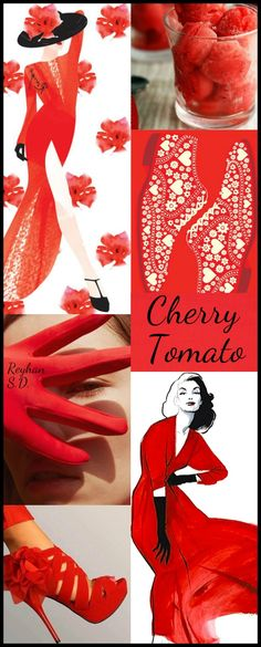 '' Cherry Tomato - 2018 Pantone Color '' by Reyhan S.D