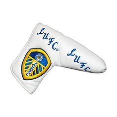UK Golf Gear - Leeds United Blade Golf Putter Cover - White/Blue/Yellow
