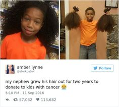 Ask yourself what you have done in the past or perhaps you are planning to do to help cancer patients or anyone who really is indeed of a donation. Well here is an inspiring story of an 8-year-old boy by the name Thomas Moore from Maryland who grew his hair for two years to donate […] | via @lifeadvancer