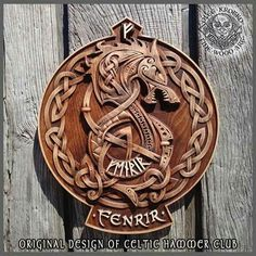 Fenrir Wolf Tyr Odin Viking Valhalla Home Decor Norse Thor Wood Picture Pagan Gods Carving Heathen Asatru Celtic Norse Rune Wall Hanging – Schnitzerei Viking Decor, Viking Art, Viking Shield, Thor, Celtic Tattoos, Viking Tattoos, Fenrir Tattoo, Rune Tattoo, Tattoo Bauch