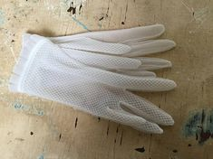 SOLD Vintage pair of nylon childs gloves First Communion, Gloves, Pairs, Children, Handmade, Stuff To Buy, Vintage, Beautiful, First Holy Communion