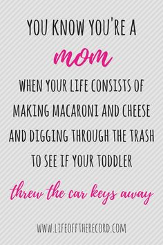 Mom Humor | Funny Mom Quotes | SAHM Life | Life Off The Record