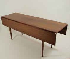 1036: Danish Mid-Century Drop Leaf Dining Table : Lot 1036