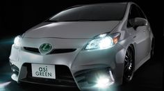 Toyota Prius (2010), badged as Lexus, customized by ASI Green Toyota Prius, Badge, Cars, Vehicles, Green, Autos, Car, Car, Automobile