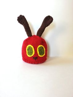 The Very Hungry Caterpillar Hat for by TheOwlTreeKnittingCo, $24.99