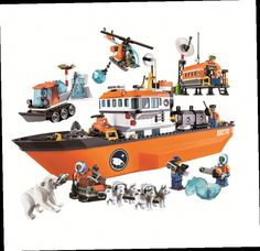 42.90$  Watch here - http://alioh4.worldwells.pw/go.php?t=32678545742 - 2016 New Bela 10443 760Pcs City Arctic Icebreaker Model Buildinlg Kits Minifigures Blocks Brick Toys Compatibe With lepin S261
