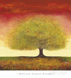 Dreaming Tree Red Print by Melissa Graves-Brown at AllPosters.com