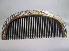 [Kotsuki] leaves watermark crest frame of antique · K20 this tortoiseshell comb 8g_ image 1