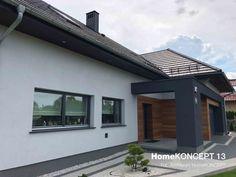 Realizacje projektów   HomeKONCEPT Facade, House Plans, New Homes, Outdoor Decor, Home Decor, Ideas, Decoration Home, Room Decor, Facades