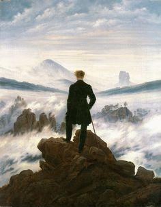 Caspar David Friedrich-Viandante sul mare di nebbia