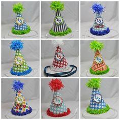 Boy 1/2 Birthday Hats by CardsandMoorebyTerri on Etsy, $12.00