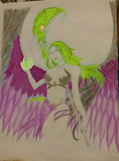 Magic Angel Warrior in green and violet