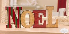 NOEL- decorative letters
