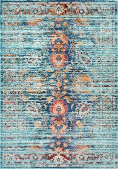 If you love blue, this is Rugs USA's Chroma Floral Glory CB14 Rug!