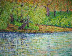 Río azul. Óleo sobre lienzo. 2012. 92x72cm 300€  VENDIDO  (SOLD)