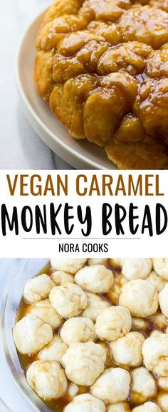 Vegan Caramel Monkey Bread- gooey, sweet, fluffy homemade pull apart bread with vegan caramel sauce! Vegan Caramel Monkey Bread- gooey, sweet, fluffy homemade pull apart bread with vegan caramel sauce! Best Vegan Recipes, Vegan Dessert Recipes, Vegan Sweets, Whole Food Recipes, Favorite Recipes, Savoury Recipes, Healthy Recipes, Vegan Bread, Vegan Cake