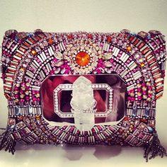 Trendy Women's Purses :   Bejeweled Marchesa Clutch    - #Bags