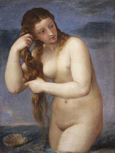 El nacimiento de Venus Tiziano