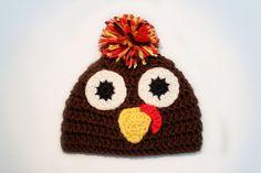 Thanksgiving Turkey Beanie on Etsy, $15.00