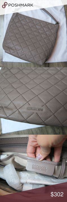 NWT Michael Kors Loni Quilted Tote The neutral color of this tote will match any outfit. The quilted leather is soft and durable. Comes with dustbag and crossbody strap. Measurements: 9x5 inches long, 4.5 inches wide, 7 inch strap drop, 11 inches high Michael Kors Bags Totes