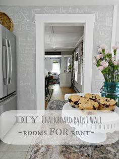 ~rooms FOR rent~: Making your own Chalkboard Paint in any color.  I just LOVE the grey chalkboard paint!