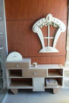 Miroir lucarne en manguier h 89 cm beautiful pieces for Finition meuble en carton