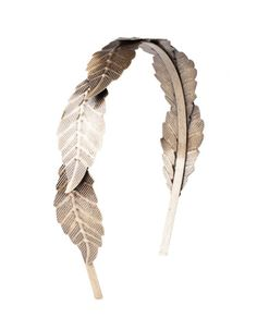 Headband with metallic leaf detail