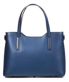 Another great find on #zulily! Lucca Baldi Blue Leather Tote by Lucca Baldi #zulilyfinds