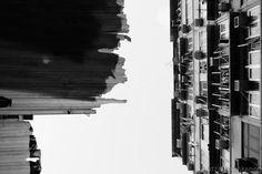 Abstract Hong Kong building scapes
