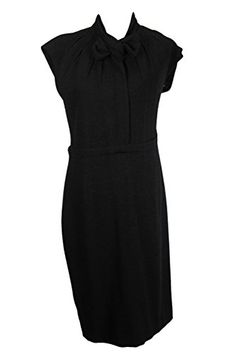 Awesome Moschino Women's Black Sleeveless Sheath Dress Size 46 Regular Item Size: 46 Material Contents: Virgin Wool Blend Main Color: Black