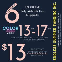Brows, Lashes, Airbrush Tanning, Brow Wax, Tan Body, Brow Tinting, Cincinnati, Summer, Color