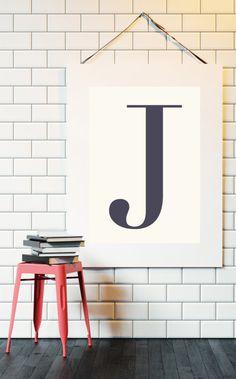 Letter J | ► Letters & Symbolen | Postersinhuis.nl